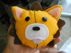 """My very first """"real"""" plush toy I made. He's Kon from Bleach"""