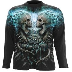 tee-shirt//top//Motard//GRIM REAPER//crâne//Skeleton// Spiral Direct Nuit Church T-shirt