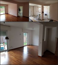 #Open plan - still a popular request.  Wall removal, many electrical alterations, building a small stud wall, but the biggest challenge was matching parquet that is nearly 15 years old.