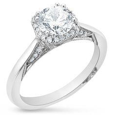 Tacori Round Dantela Engagement Ring