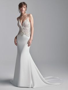 Meet #Brock new for #Sotteroandmidgely for #Fall2020 Crepe Wedding Dress, Perfect Wedding Dress, Wedding Dress Styles, Dream Wedding Dresses, Designer Wedding Dresses, Wedding Gowns, Sottero And Midgley Wedding Dresses, Sottero Midgley, Silver Gown