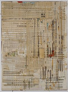 Lance Letscher, Furrow 2010, Collage on board