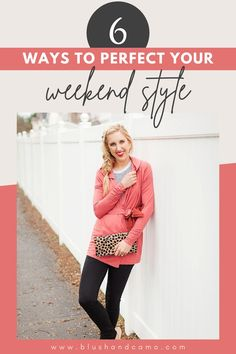 Hello Gorgeous! When it comes to the weekend, I like to wear comfy clothes! Especially since my work clothes aren't always that comfy! But that doesn't mean I can't look amazing doing it! Here are six way to put together a comfy yet totally chic outfit for your weekend style! #weekendstyle #chicoutfit #whattowear #comfyclothes #style