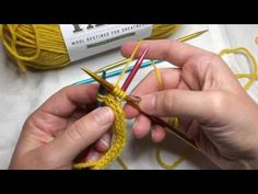 How to begin A Hat for Rachel using i-cord - YouTube