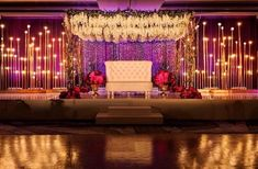No reception is really complete without wedding mandap decorations. But easy it should be, your wedding decoration will flip a monotonous event Wedding Hall Decorations, Marriage Decoration, Backdrop Decorations, Wedding Centerpieces, Centerpiece Ideas, Sunflower Decorations, Sunflower Centerpieces, Flowers Decoration, Rustic Centerpieces