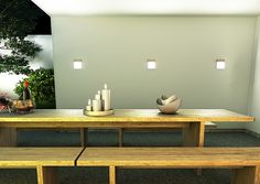 VERIA | rendl light studio | Flat LED light for outdoor use. #light #outdoor #wall #LED