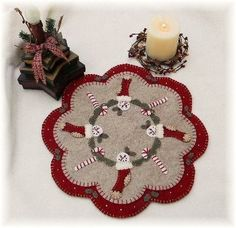 Christmas Stockings Penny Rug/Candle Mat pdf e-pattern. $4.50, via Etsy.