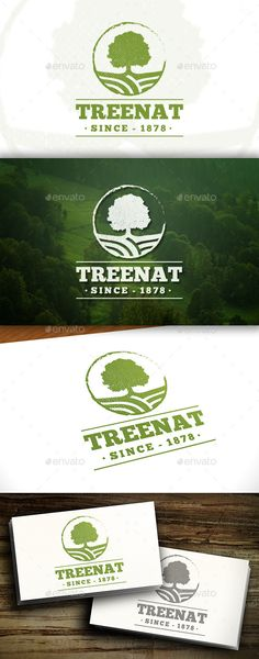 Oak Tree - Logo Design Template Vector #logotype Download it here: http://graphicriver.net/item/oak-tree-logo/11457223?s_rank=837?ref=nexion