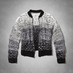 Womens Kaylin Bomber Sweater | Womens Sweaters | Abercrombie.com