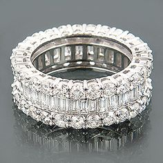 Emerald cut and Round Brilliant Eternity If you're not married yet, can I pick out an anniversary ring? STUNNING