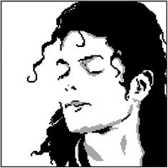 Michael Jackson Face Graphghan Pattern