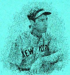 Joe DiMaggio Pointillism Painting By Bob Smerecki Joe Dimaggio, Ny Yankees, Pointillism, Mlb, Artwork, Movie Posters, Painting, Work Of Art, Paintings
