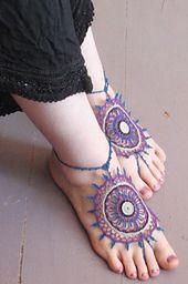 Ravelry: Payal: A Mehndi Inspired Barefoot Sandal pattern by Lori M. Carlson