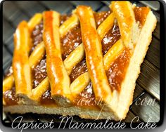 Learn how to make this Apricot Marmalade Cake that can easily be cut into bars and served to guests at your next party! // #Cake #Marmalade #Apricot