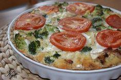 Tarta brokułowa z boczkiem i serem feta