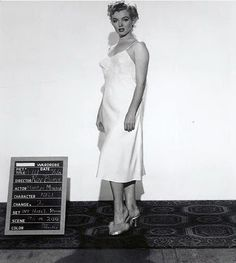 Marilyn in a costume test for Don't Bother To Knock, 1952.
