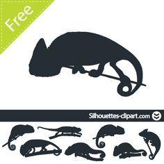 vector chameleon silhouette
