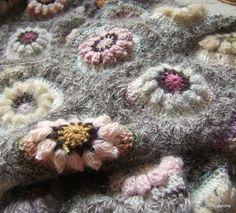 crochet, Field of Dreams Art Au Crochet, Crochet Motifs, Crochet Granny, Crochet Blanket Patterns, Crochet Shawl, Crochet Stitches, Knitting Patterns, Knit Crochet, Granny Squares