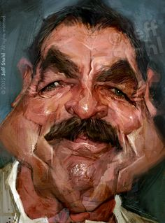 Want your own caricature or stylised portrait ?stahl Other work you may like : Tom Selleck, by Jeff Stahl Tom Selleck, Funny Caricatures, Celebrity Caricatures, Cartoon Faces, Funny Faces, Create A Comic, Caricature Drawing, Portraits, Wow Art