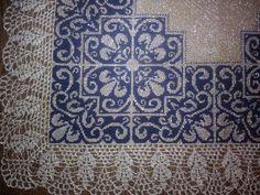 Blackwork, Cross Stitch Embroidery, Cross Stitch Patterns, Creative Embroidery, White Crosses, Filet Crochet, Knitting Projects, Needlework, Diy Crafts