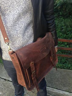Brown Leather Messenger bagLeather Shoulder BagLeather