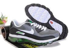 Grå Svart Grön Nike Air Max 09+90 Skor Man 86389