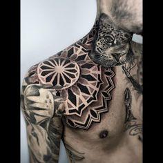 Forearm Tattoo Quotes, Arm Tattoos, Arm Band Tattoo, Tribal Tattoos, Sleeve Tattoos, Chest Piece Tattoos, Chest Tattoo, Ink Tattoo Studio, Headdress Tattoo