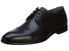 Hugo Boss C-Drescol Mens 50292490-001 Black Leather Formal Dress Shoes Size 12
