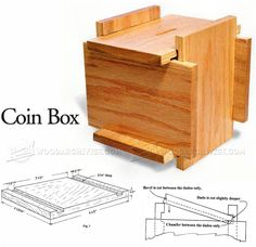 Coin Box Plans - Woodworking Plans and Projects | WoodArchivist.com