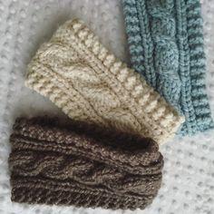 Chunky knit braided headband by LushyTushy on Etsy