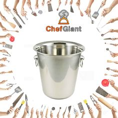ChefGiant Stainless Steel, Mirror Finish, 4 Quart Wine Bucket, Set of 6  #ChefGiant #BarUtensils #WineBucket  https://www.amazon.com/ChefGiant-Stainless-Mirror-Finish-Bucket/dp/B01M8IHU42/ref=sr_1_49?m=A1HS8SYJN3R6YF&s=merchant-items&ie=UTF8&qid=1493123739&sr=1-49&refinements=p_4%3AChefGiant