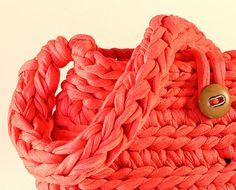 Crochet XXL  Bolso de trapillo único por Gnolo en Etsy