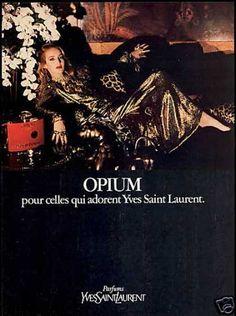 Yves Saint Laurent Opium Perfume Jerry Hall (1981)
