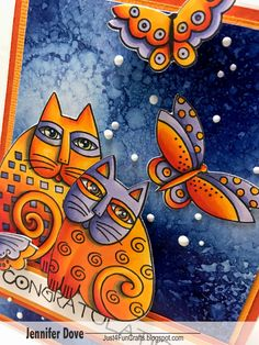 I just had an amazing two days at Phoenix Creativation (CHA) at the Stampendous booth getting to color the new Laurel Burch collection! I h...