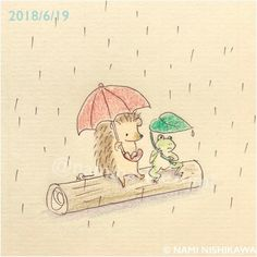 1461 雨の日、おしゃべり talking on a rainy day