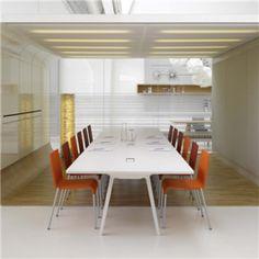 Toptafel! De Vitra Joyn Single Bench vergader/werkplek. Ik zou hem zo op kantoor zetten ;)