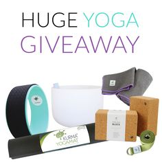Giveaway Includes: Kurma Light Yoga Mat, Yoga Wheel, Crystal Singing Bowl, 2 Blocks, Yoga Towel & Strap + Mat Carry Sling ~ $300 + Value!! Winner announced Sept 6. Enter Here!