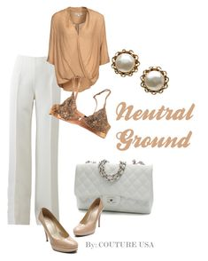 """Neutral Ground"" by coutureusa ❤ liked on Polyvore featuring Michael Kors, Glamorous, La Perla, Chanel and Stuart Weitzman"
