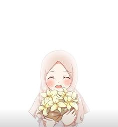Do not become despondent when things go against your desires, just pray and struggle that's how islam will teach you Cute Cartoon Girl, Cartoon Pics, Cartoon Art, Drawing Cartoon Characters, Cartoon Drawings, Hijab Drawing, Cute Couple Wallpaper, Islamic Cartoon, Hijab Cartoon