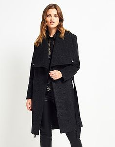 Womens charcoal coat from Lipsy - £170 at ClothingByColour.com