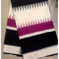 Buy IKCOT6900001-VARNAM handwoven fine ikat cotton-purple black offwhite beauty, 700g online - Handwoven Kanchivarams,Soft Silks, Silk Cottons and Tussars!