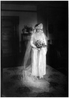 Hester Brite in her Wedding Gown, 1923~Image via the University of North Texas Libraries, The Portal to Texas History.