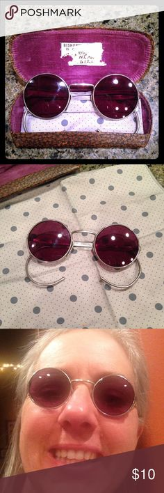 Vintage round sunglasses Stainless steel frame with very good quality ophthalmic plano sun lenses.  Obviously don't do me any justice so if you are looking for something super unique and like vintage - here you go. Accessories Sunglasses