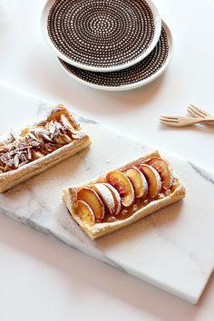 Peach tarts + Marimekko plates