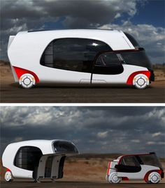 Motor Home with Detachable Car built in! Why have two engine and two vehicles when all you need is one modular one? That's the idea behind this futuristic concept called COLIM (Colors of Life in Motion). How fun as long as you did not want to go off-road.