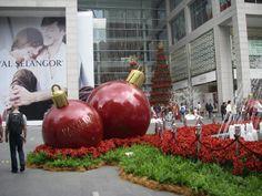 Christmas decorations outside the Pavilion Mall, Kuala Lumpur.