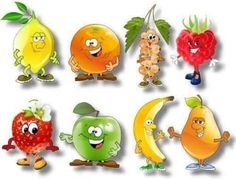 Solve vitaminy jigsaw puzzle online with 48 pieces Paper Mache Animals, Funny Fruit, Fruit Picture, Cartoon Stickers, Best Fruits, Some Ideas, Art For Kids, Decoupage, Jigsaw Puzzles