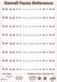 I couldn't find one online, so I made one for myself and thought I'd share. Of course there are tons more types of expressions, but I just made the basics. Fell free to use however you like! ***PLE...