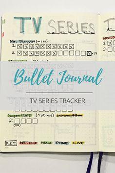 bullet journal tv series tracker!