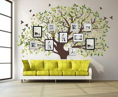 Big Tree Wall Vinyl Decal.Our quality vinyl wall decal are precisely tailored, hand-cut, with beautiful matte finish. Made of PVC free vinyl